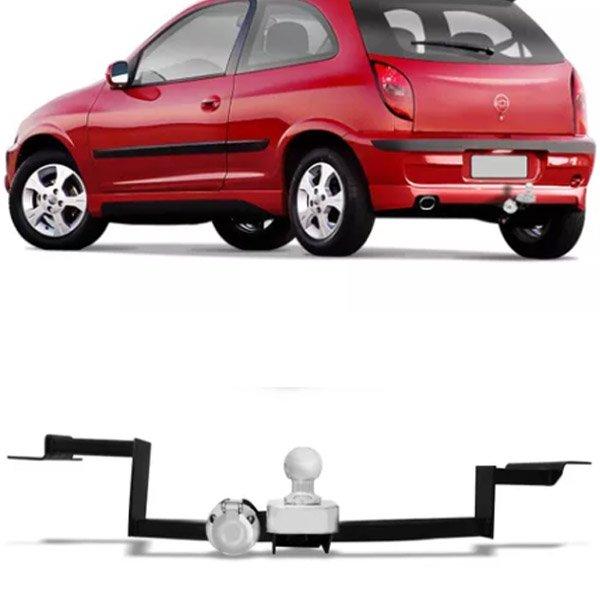 Engate Para Reboque Rabicho Chevrolet Celta Sport 2000 Até 2010 Tração 400Kg InMetro