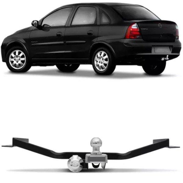 Engate Para Reboque Rabicho Chevrolet Corsa Sedan 2005 06 07 08 09 10 Sem Gancho Tração 400Kg InMetro