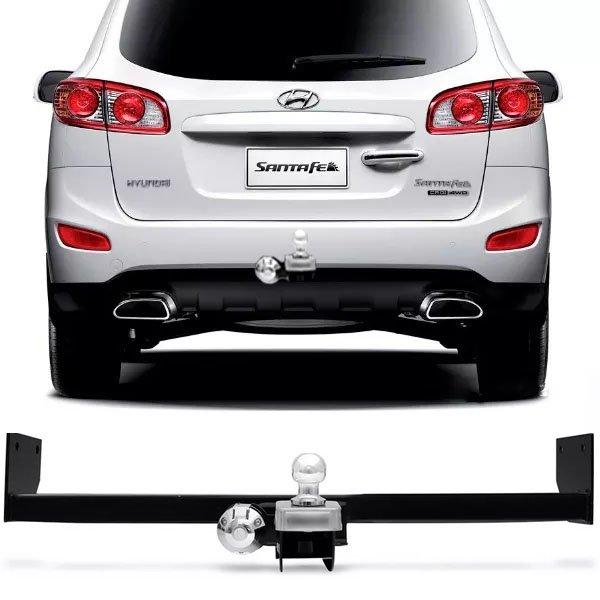 Engate Para Reboque Rabicho Hyundai Santa Fé 2007 08 09 10 11 12 Tração  400Kg InMetro ...