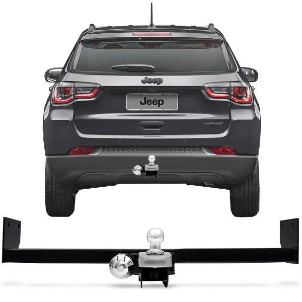 Engate Para Reboque Rabicho Jeep Compass 2018 19 Tração 400Kg InMetro