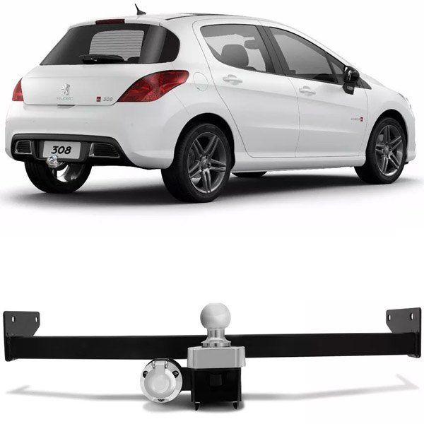 Engate Para Reboque Rabicho Peugeot 308 2012 13 14 15 Tração 400Kg InMetro