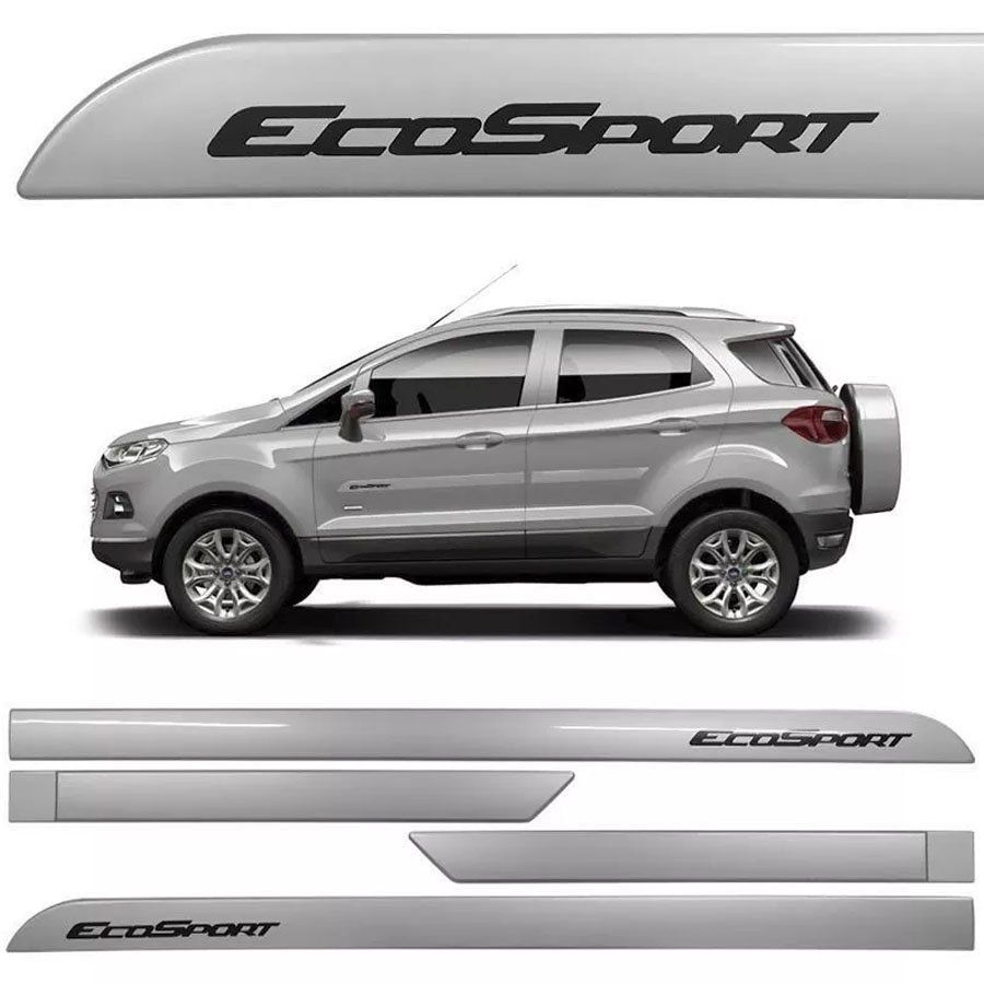 Friso Lateral na Cor Original Ford Ecosport 2013 14 15 16 17 18 19 20 21