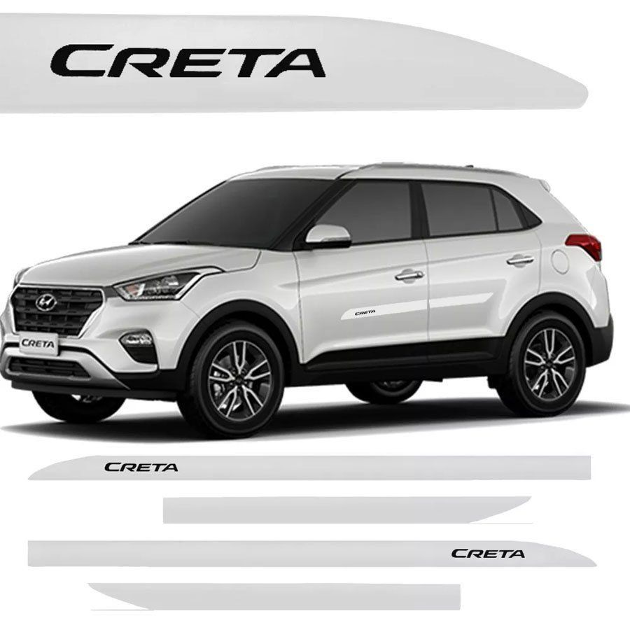 Friso Lateral na Cor Original Hyundai Creta 2017 18 19 20 21