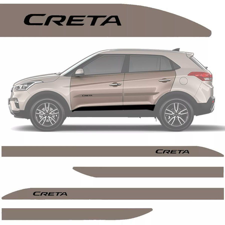 Friso Lateral na Cor Original Hyundai Creta 2017 18 19