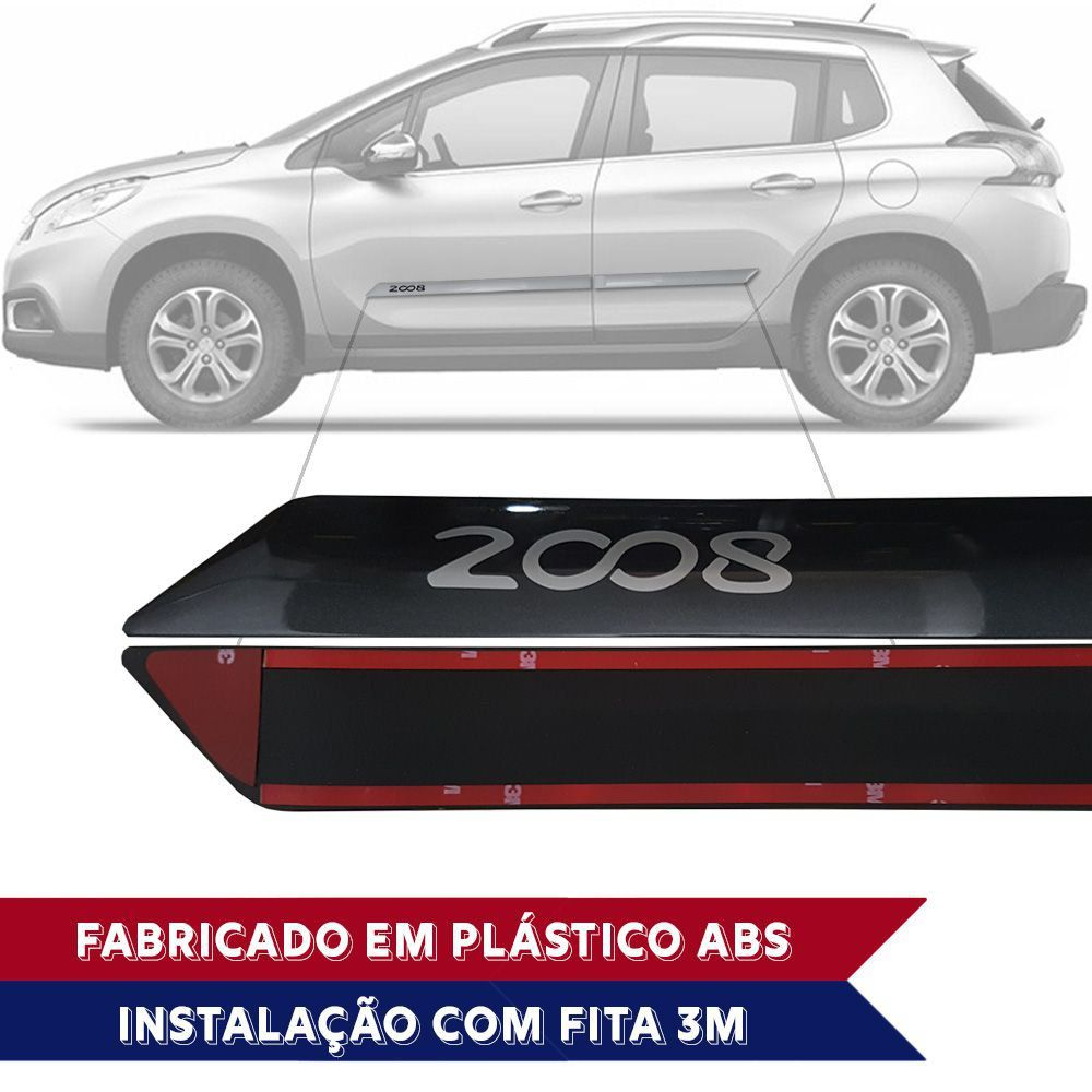 Friso Lateral na Cor Original Peugeot 2008 2015 16 17 18 19 20