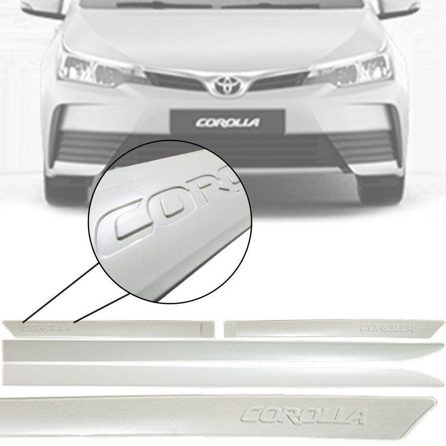 Friso Lateral na Cor Original Toyota Corolla 2015 16 17 18 19 20 21 Grafia em Baixo Relevo