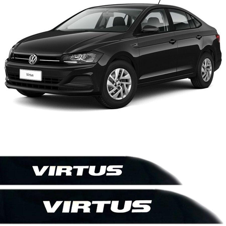 Friso Lateral na Cor Original Volkswagen Virtus 2018 19