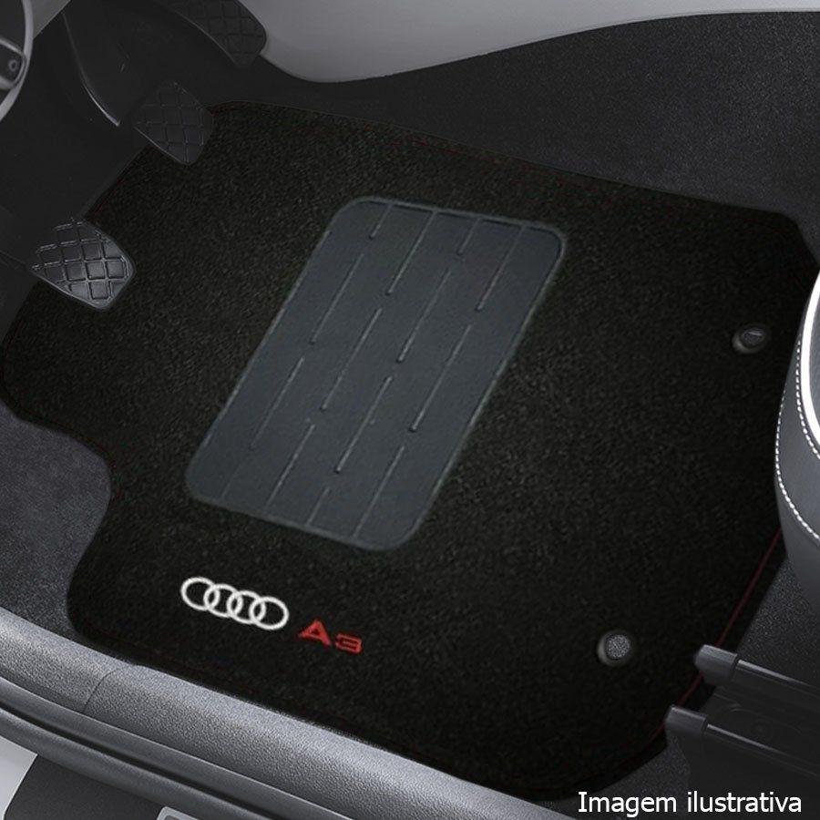 Jogo de Tapete Carpete Tevic Pinado Audi A3 Sportback 2007 08 09 10 11 12 Impermeável Lavável Logo Bordado 5 Peças