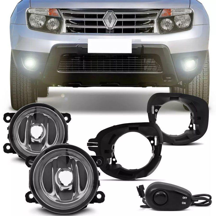 Kit Farol de Milha Completo Renault Duster 2012 13 14 15 Auxiliar Neblina