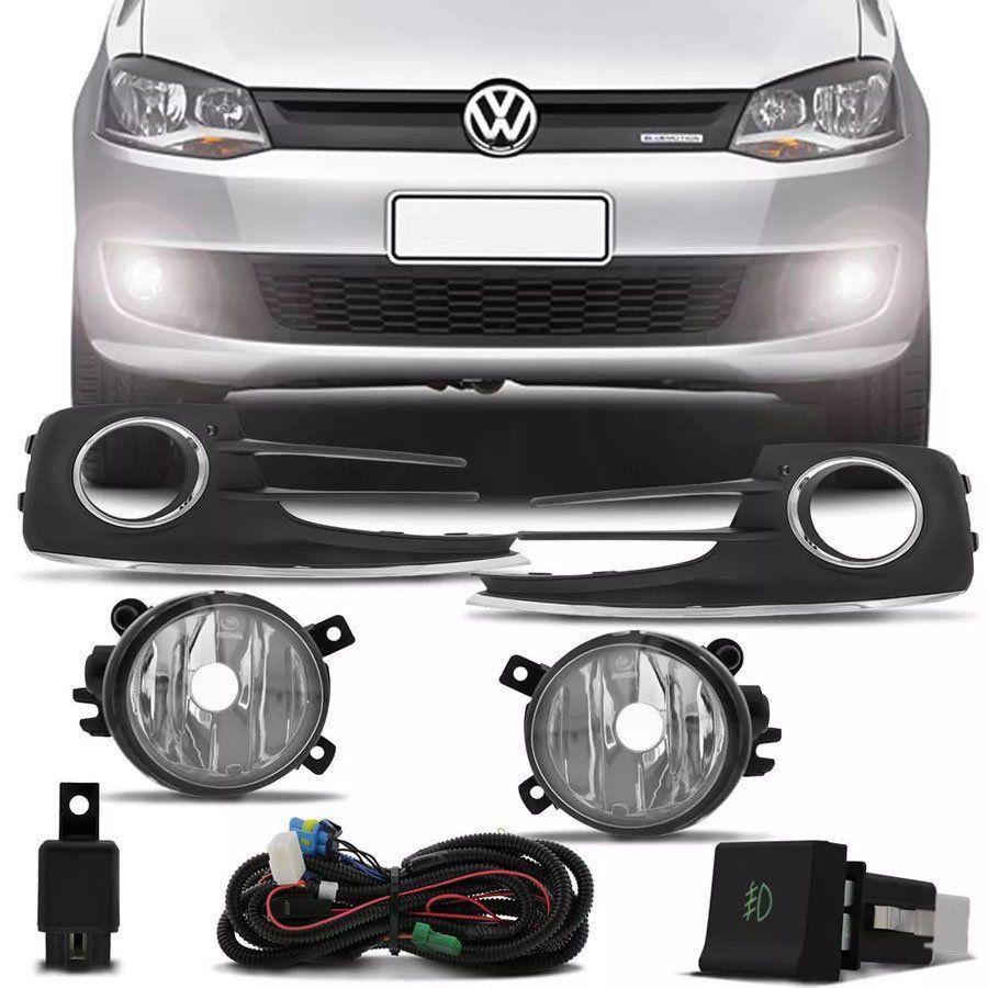 Kit Farol de Milha Completo Volkswagen Fox 2015 16 17 18 19 Auxiliar Neblina