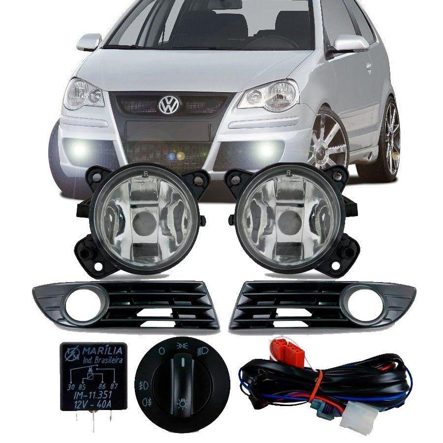 Kit Farol de Milha Completo Volkswagen Polo 2007 08 09 10