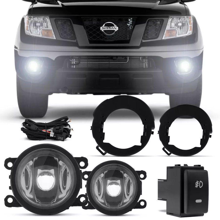 Kit Farol de Milha Completo Nissan Frontier SE SEL Pathfinder 2014 15 16 17 18 19