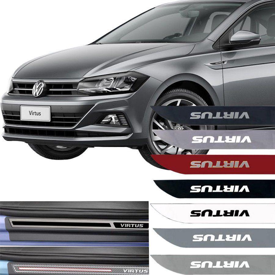 Kit Friso Lateral e Soleira Resinada Volkswagen Virtus 2018 Em Diante