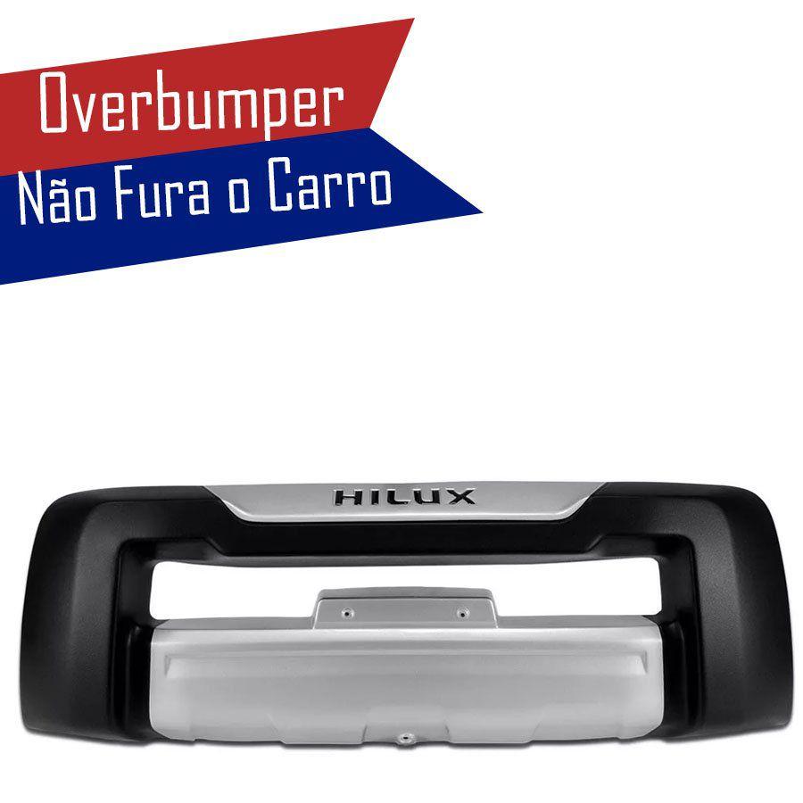 Kit Overbumper Bumper Front Bomper Toyota Hilux Sr Srv 2009 10 11 Preto Com Prata
