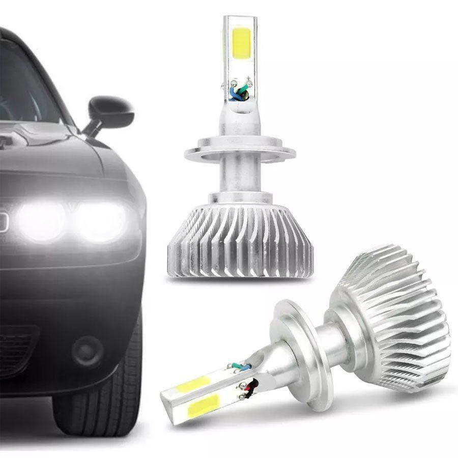 Lâmpada Super LED 3D Headlight H4 6000K 50W Efeito Xênon Com Fonte Embutida