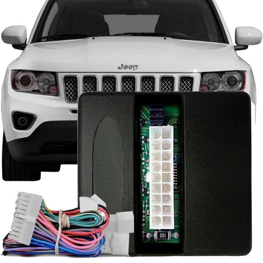 Módulo de Vidro Antiesmagamento Jeep Compass 2012 à 2016 Com Auto Down Vidro Motorista PRO 4.40 DT