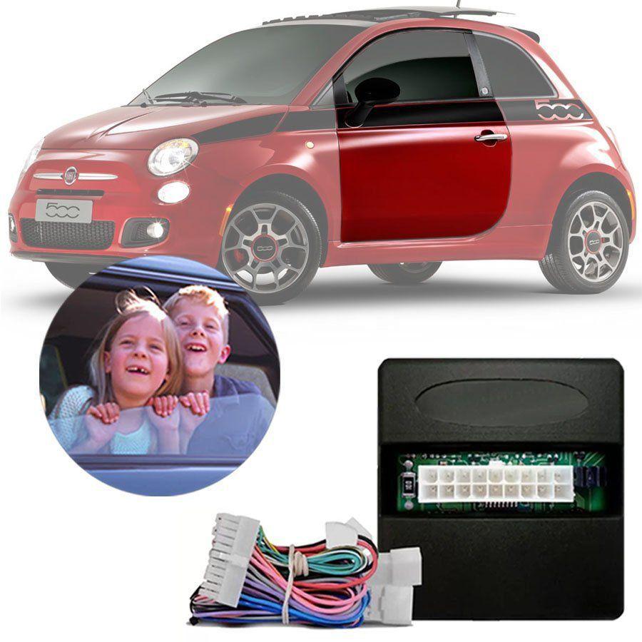 Módulo de Vidro Elétrico Fiat 500 2009 10 11 12 13 14 15 16 Com Vidros Elétricos nas Portas Dianteiras Função Antiesmagamento PRO 2.5