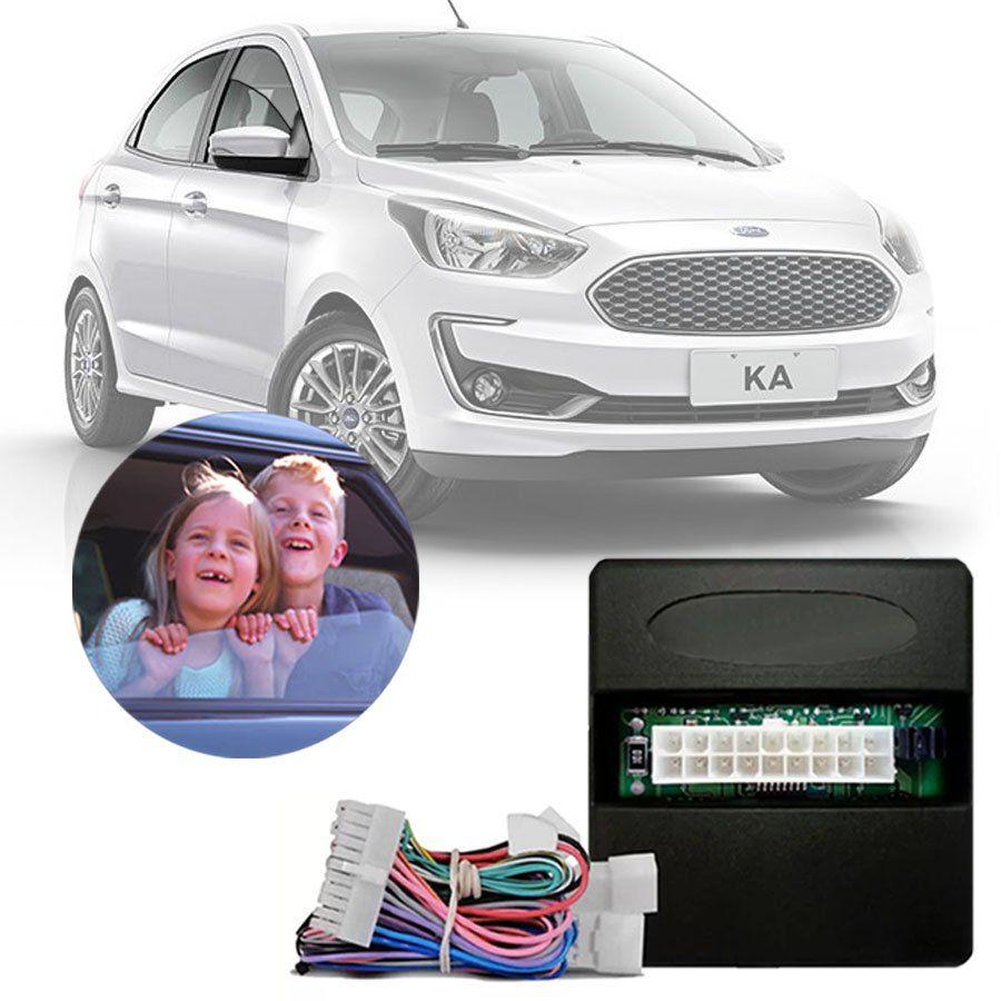 Modulo De Vidro Eletrico Ford Ka Ka   Portas Funcao Antiesmagamento Pro   Be