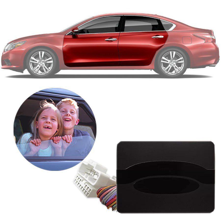 Módulo de Vidro Elétrico Nissan Altima 2012 13 14 15 Com Vidros Automatizados nas Portas Dianteiras Função Antiesmagamento PRO 4.38 DW