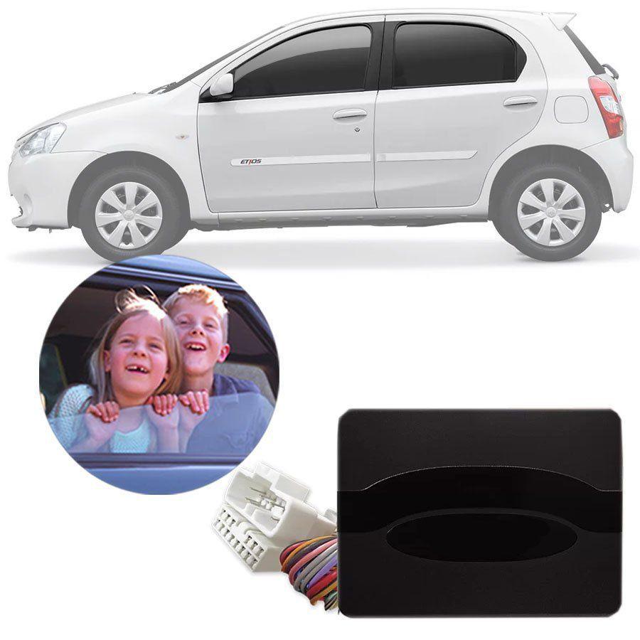 Módulo de Vidro Elétrico Toyota Etios 2015 16 17 18 19 Com Vidros Elétricos nas 4 Portas Função Antiesmagamento PRO 4.8 CJ