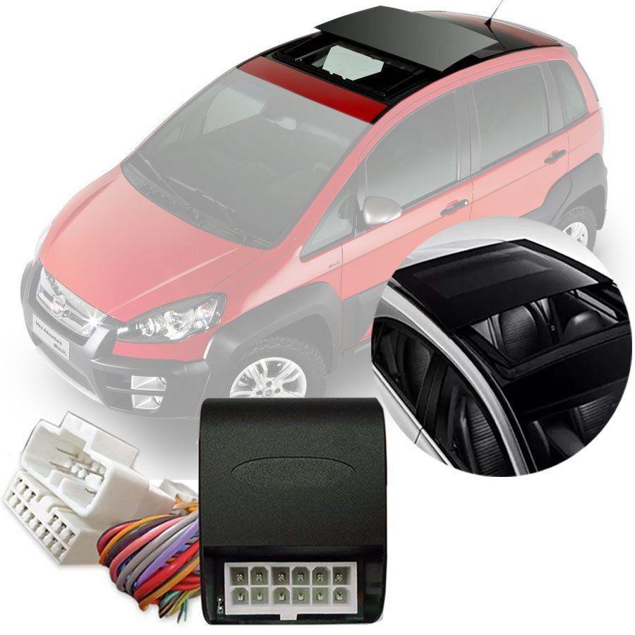 Módulo Fechamento Teto Solar Automatizado Tury Fiat Idea 2005 06 07 08 09 10 11 12 13 14 15 16 17 Com Sistema de Teto Solar Original LVX 5
