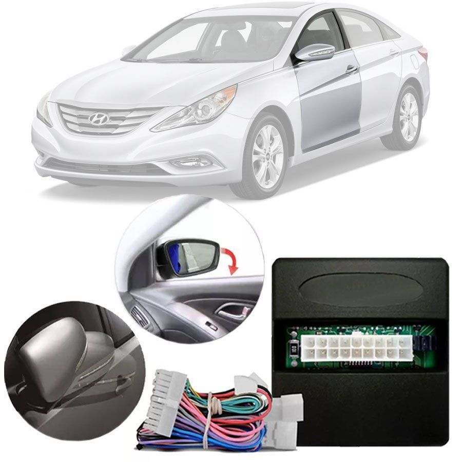 Módulo Tiltdown e Rebatimento de Retrovisor Elétrico Hyundai Sonata 2011 12 13 14 PARK 3.2.4 CN