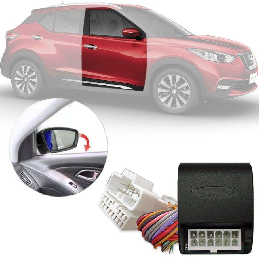 Módulo Tiltdown Inclina Retrovisor Elétrico Nissan Kicks 2016 17 18 19 20 21 PARK 1.2.6 CC