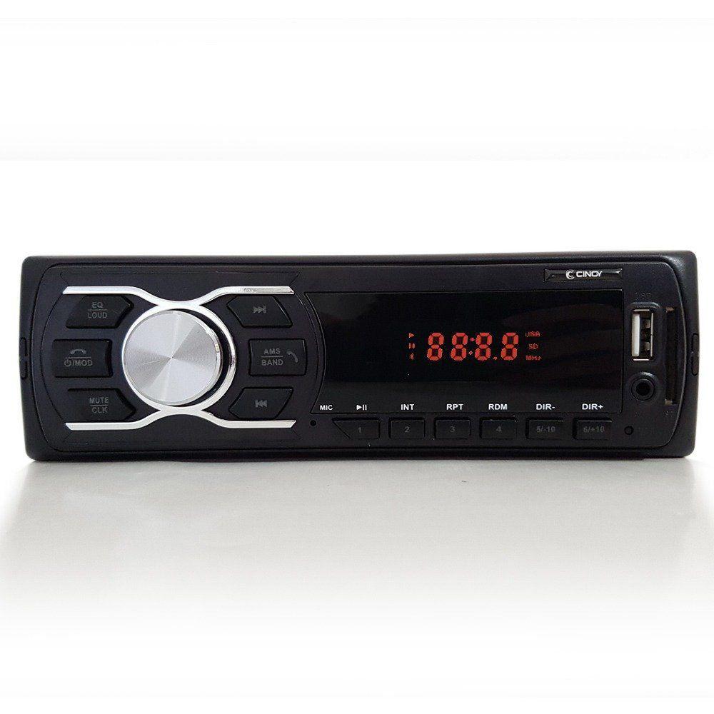 Mp3 Player Rádio Som Automotivo Cinoy Bluetooth 1 Din USB AUX SD CARD Mp3 Fm