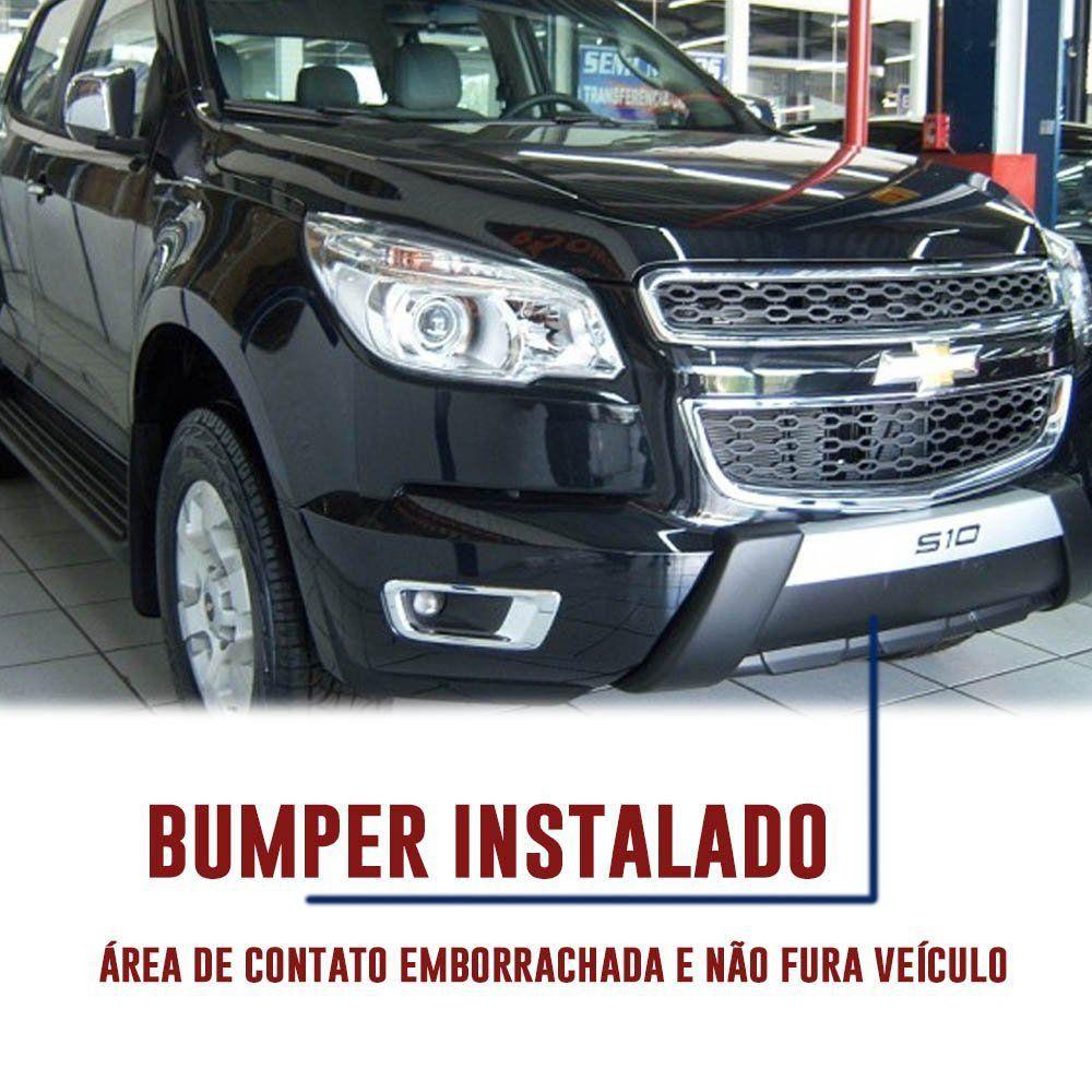 Kit Overbumper Bumper Front Bumper Chevrolet S-10 S10 2012 13 14 15 Cabine Dupla e Cabine Simples