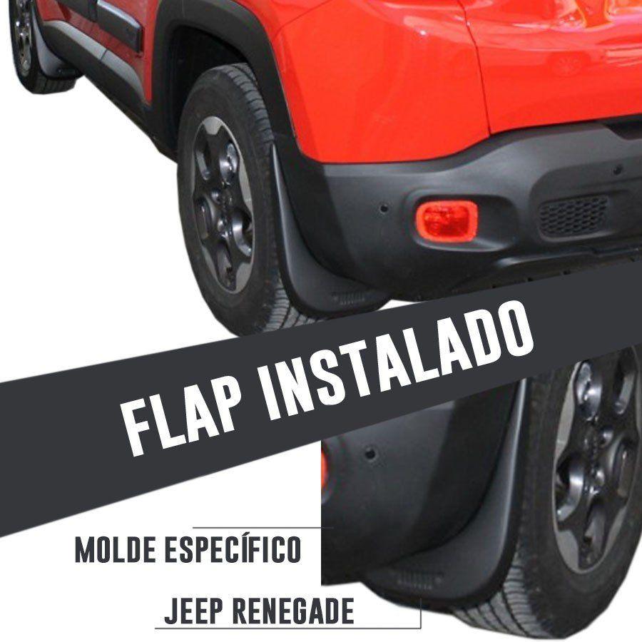 Kit Flap Apara Para Barro Lameiro Jeep Renegade 2015 16 17 18 19 Dianteiro e Traseiro