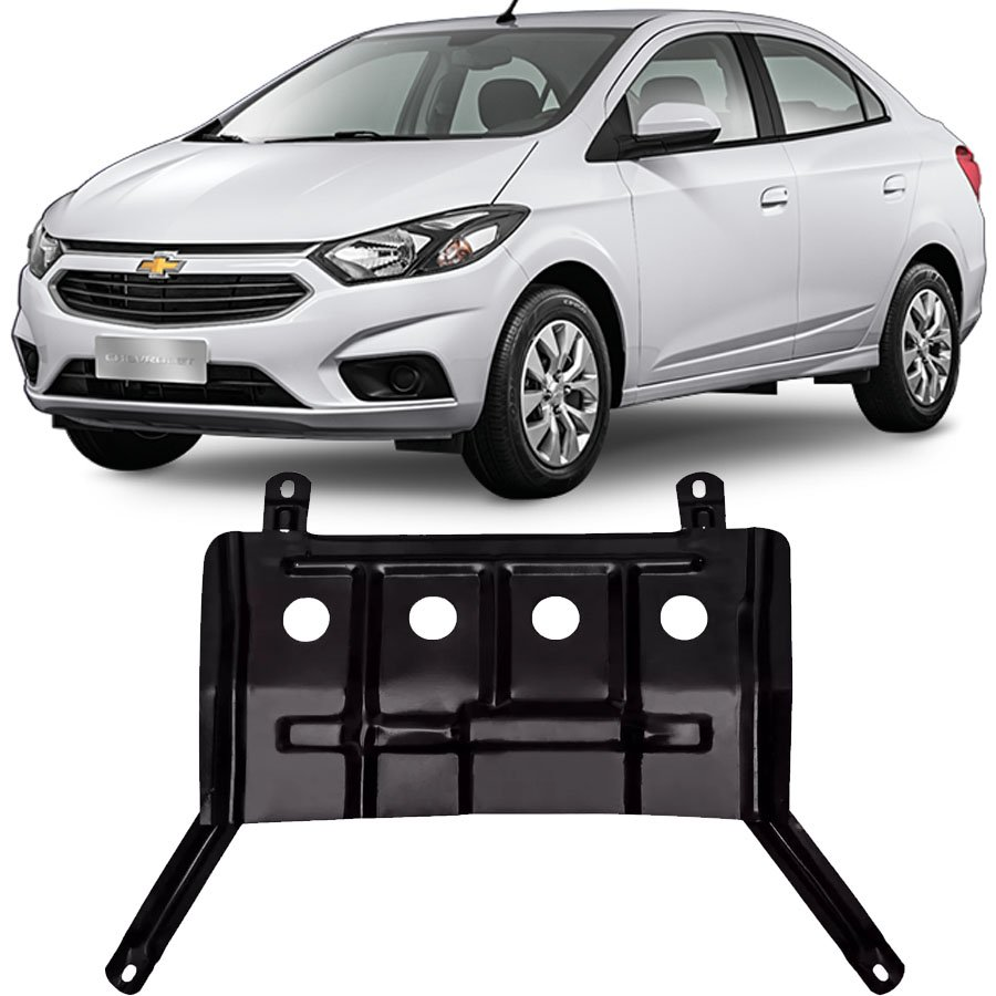 Protetor de Carter Completo Chevrolet Prisma 2013 14 15 16 17 18 Com Parafusos Fixadores