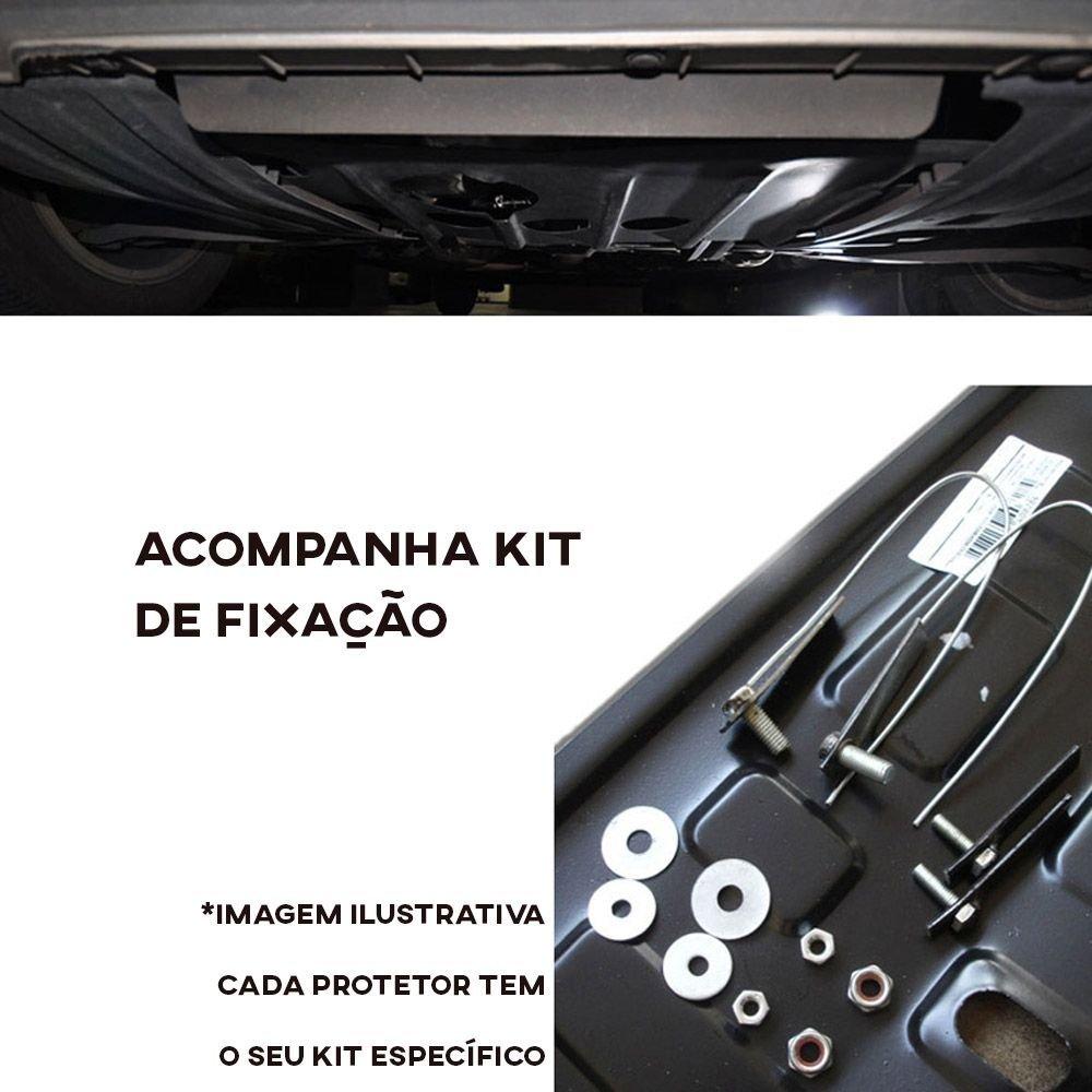 Protetor de Carter Completo Renault Logan Sandero 2014 15 16 17 18 Com Parafusos Fixadores