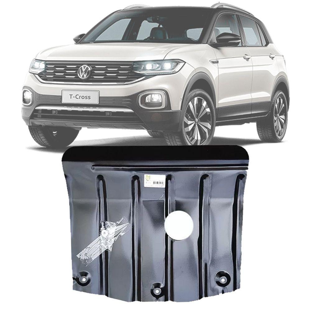 Protetor de Carter Completo Volkswagen T-Cross TCross 2019 20 Com Parafusos Fixadores