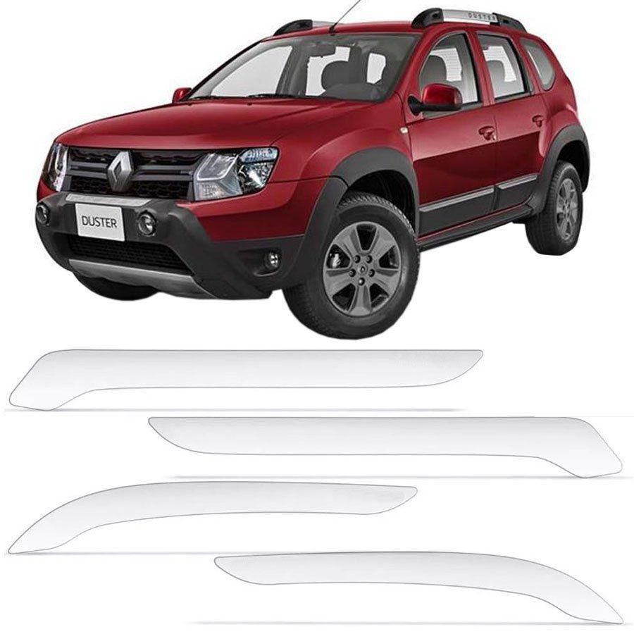 Protetor de Para Choque Aplique Adesivo Renault Duster 2012 13 14 15 16 17 18 19 4 Peças