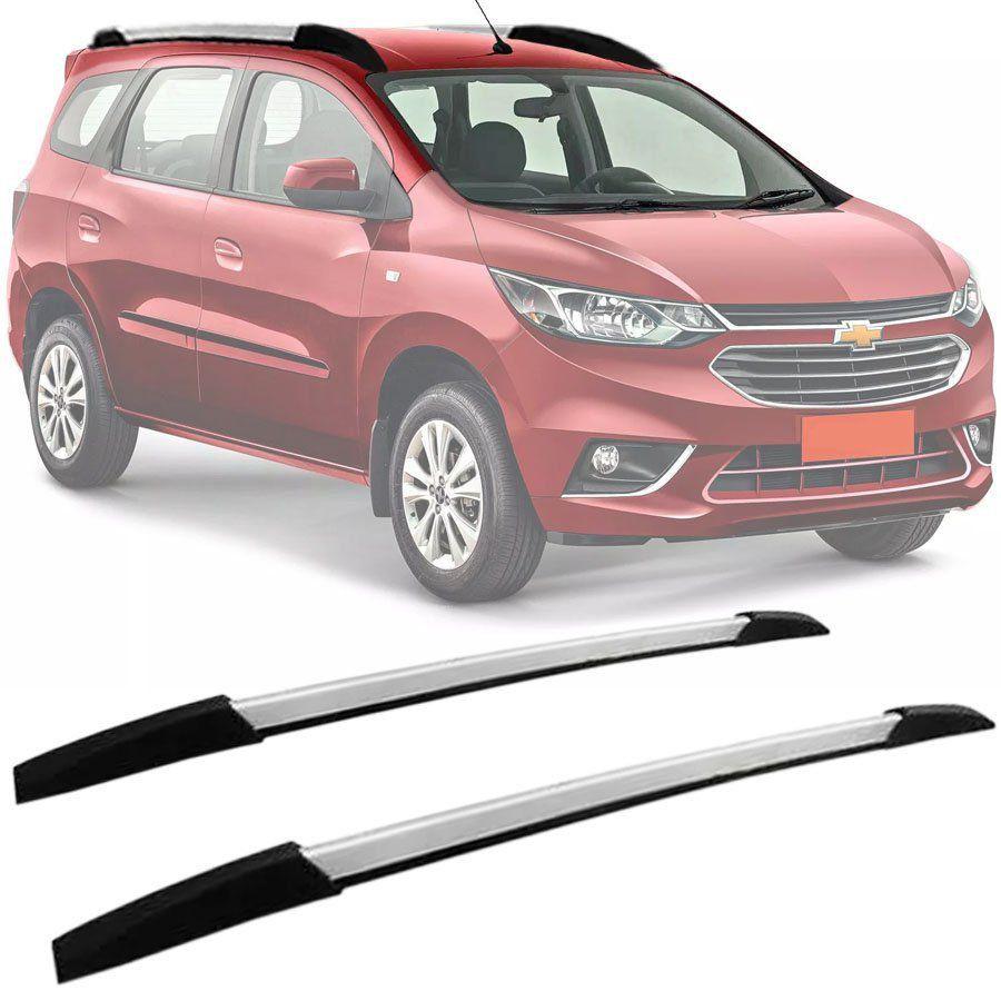 Rack de Teto Longarina Decorativa Chevrolet Spin 2012 13 14 15 16 17 18 19 Prata Tg Poli