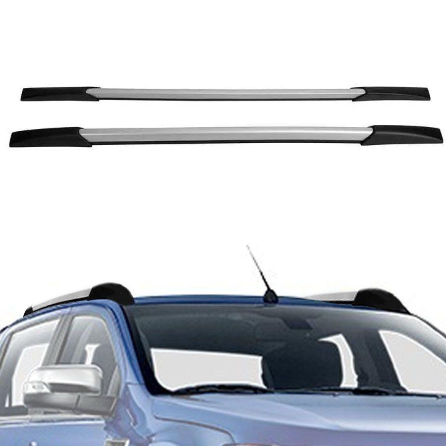 Rack de Teto Longarina Decorativa Ford Ranger 2013 14 15 16 17 18 19 Prata Tg Poli