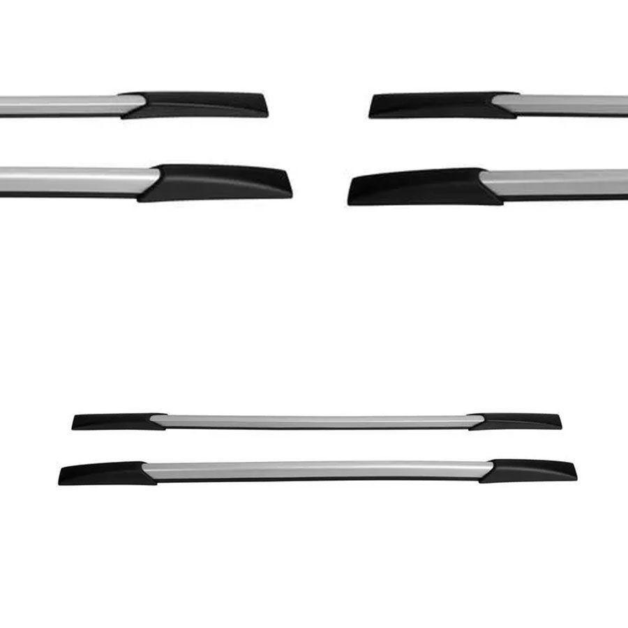 Rack de Teto Longarina Decorativa Volkswagen Amarok 2010 11 12 13 14 15 16 17 18 19 Prata Tg Poli