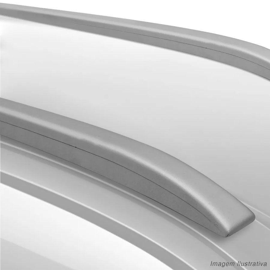 Rack de Teto Longarina Slim Decorativo Fiat Punto 2007 08 09 10 11 12 13 14 15 16 Prata Preto 2 Peças Fácil Aplicação Dupla Face