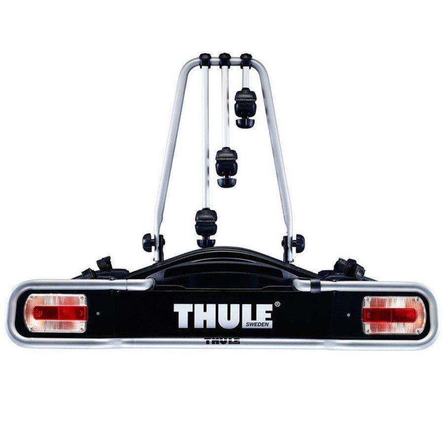 Suporte Transbike 3 Bicicletas Thule Euroride 943 Fixado no Engate Com Sistema de Iluminação