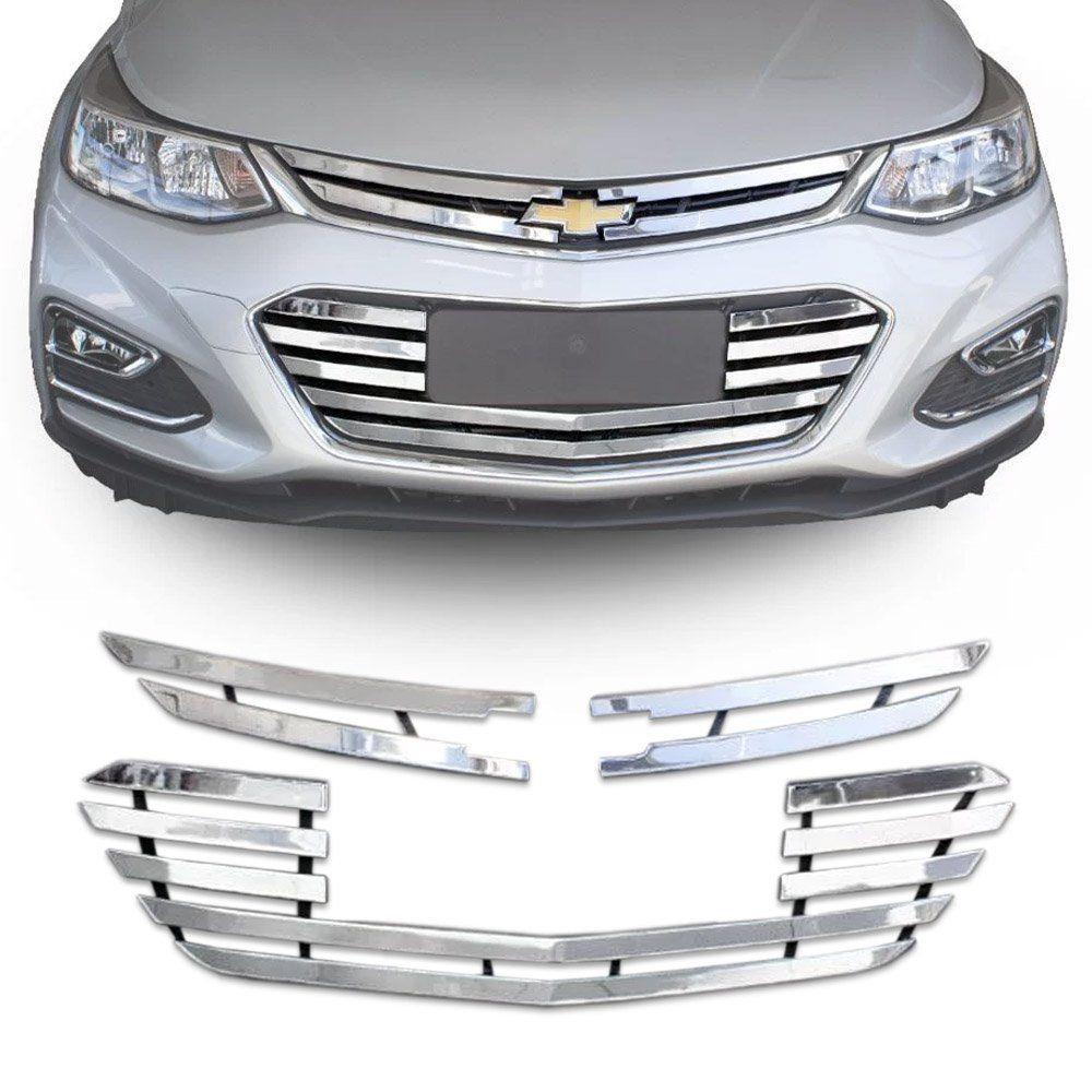 Sobre Grade Chevrolet Cruze Hatch Sport6 2017 Em Diante Cromada Aço Inox Max