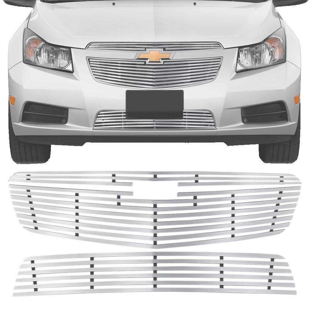 Sobre Grade Chevrolet Cruze Sedan 2011 A 2014 Cromada Aço Inox Slim