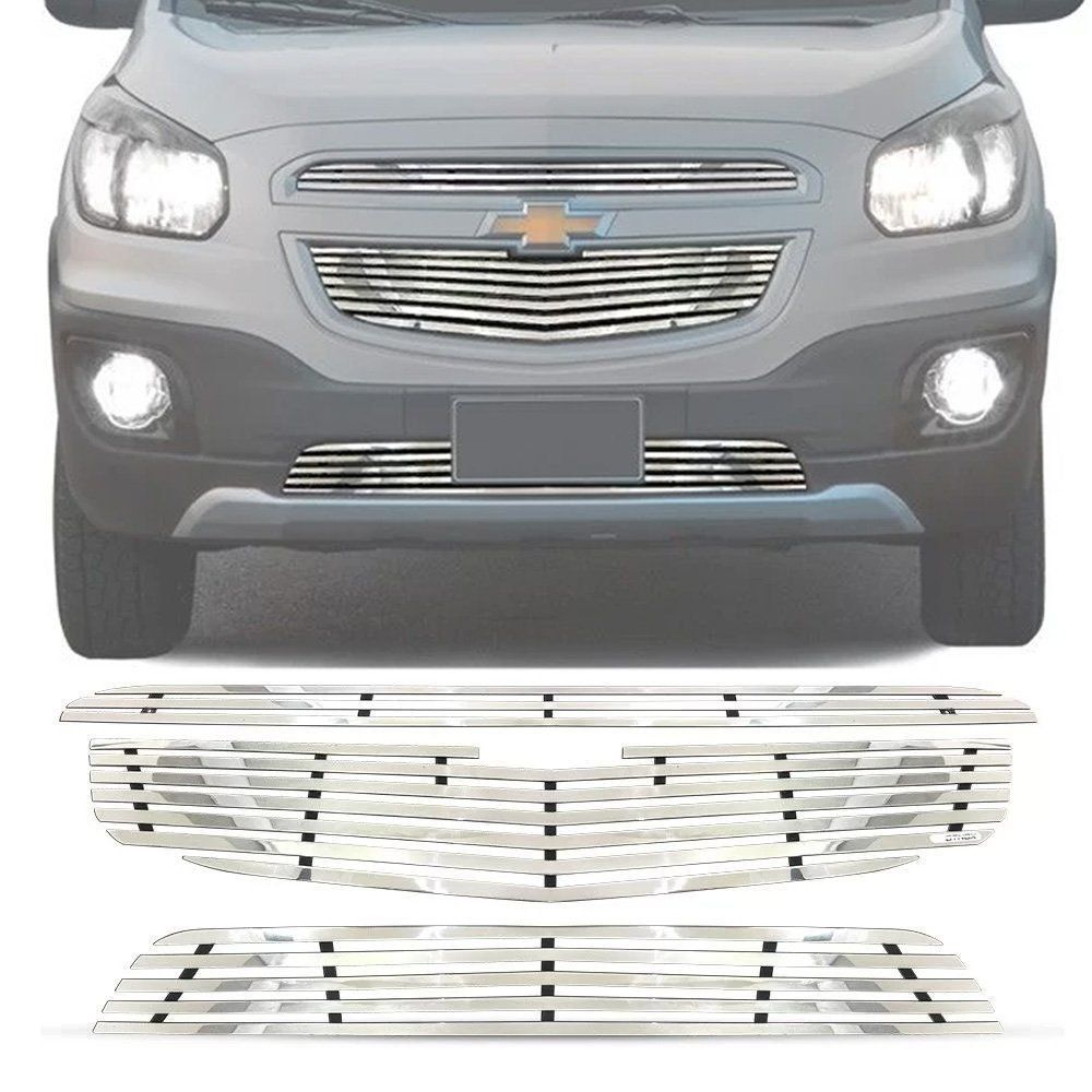 Sobre Grade Chevrolet Spin 2012 A 2016 Cromada Aço Inox Elite
