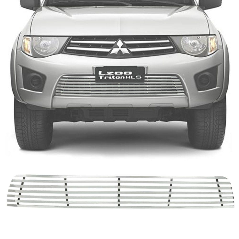 Sobre Grade Mitsubishi L200 Triton 2013 Glx Gls Cromada Aço Inox