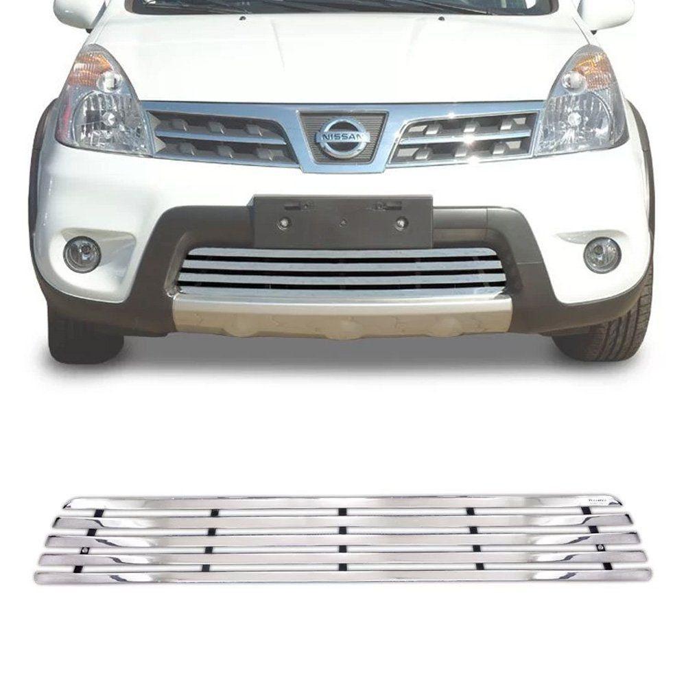 Sobre Grade Nissan Livina 2014 2015 Cromada Aço Inox Max