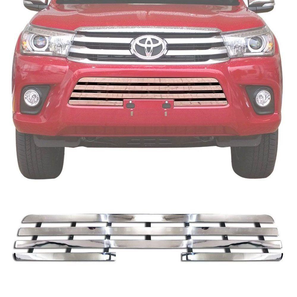 Sobre Grade Toyota Hilux 2016 A 2018 Cromada Aço Inox Max