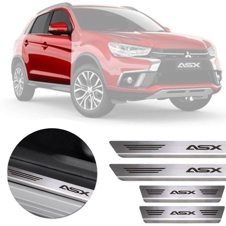 Soleira de Aço Inox Premium Escovado Mitsubishi Asx 2011 12 13 14 15 16 17 18 19