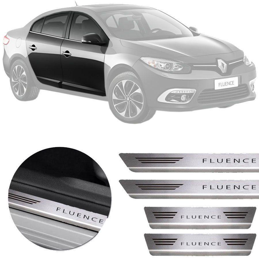 Soleira de Aço Inox Premium Escovado Renault Fluence 2011 12 13 14 15 16 17 18