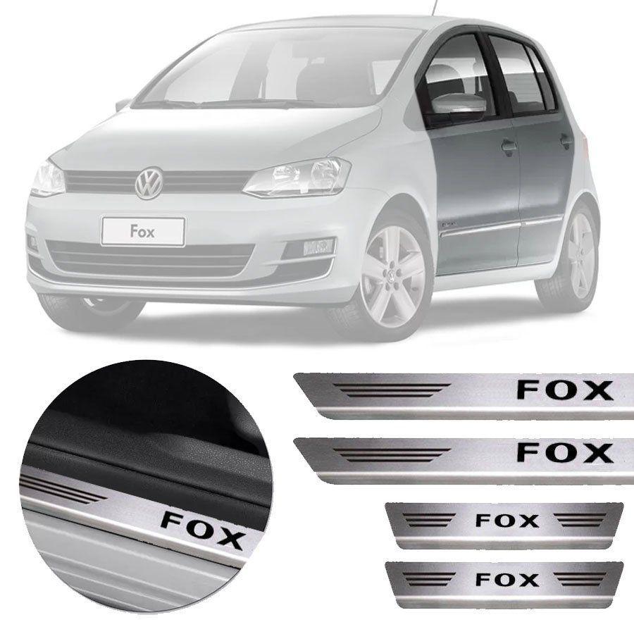 Soleira de Aço Inox Premium Escovado Volkswagen Fox 2003 a 2018