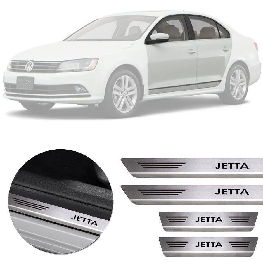 Soleira de Aço Inox Premium Escovado Volkswagen Jetta 2011 12  13 14 15 16 17 18 19