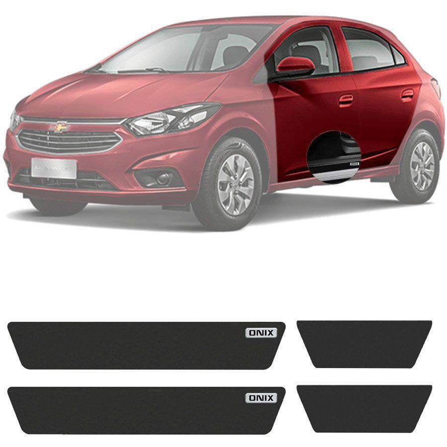 Soleira Resinada Mini Premium Chevrolet Onix 2013 14 15 16 17 18 19 6 Peças